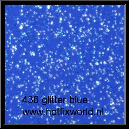 436 Politape Glitter blue 20x25cm