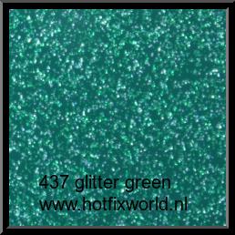437 Politape Glitter green 20x25cm