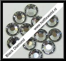 Rhinestones ss6 Black diamond