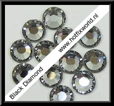 Rhinestones ss10 Black diamond