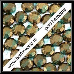 Rhinestones ss10 Gold hematite