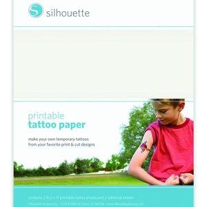 Silhouette tattoo paper