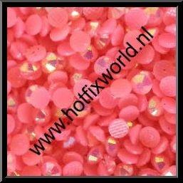 Resin ss10 neon roze AB 500 stuks