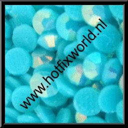 Resin ss10 neon blauw AB 500 stuks
