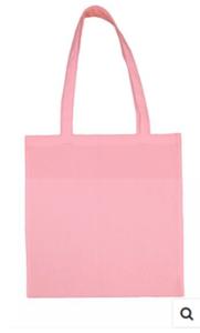 Katoenen tas licht roze