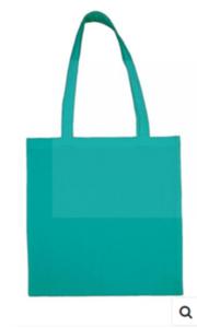 Katoenen tas licht turquoise