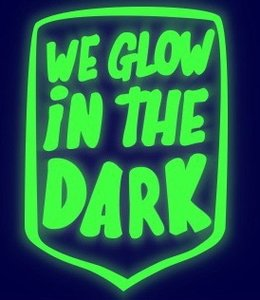 Glow in the dark flex 20x25cm