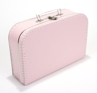 Kinderkoffertje licht roze 30cm