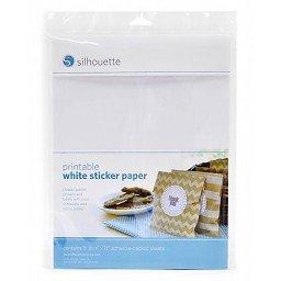 Silhouette white sticker paper