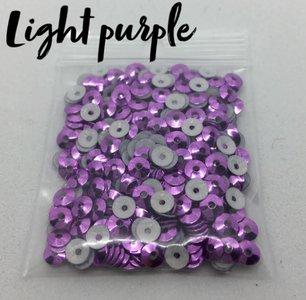 Light purple hotfix pailletten 4mm