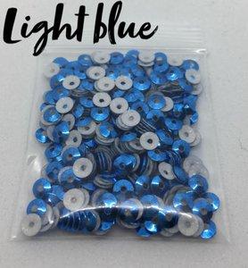 Light blue hotfix pailletten 3mm