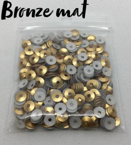 Bronze mat hotfix pailletten 4mm