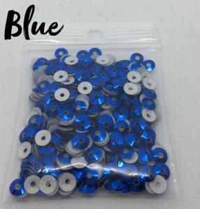 Blue hotfix pailletten 4mm