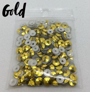 Gold hotfix pailletten 5mm