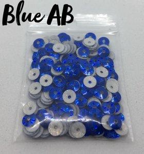 Blue AB hotfix pailletten 5mm