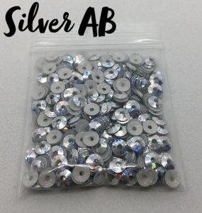 Silver AB hotfix pailletten 3mm