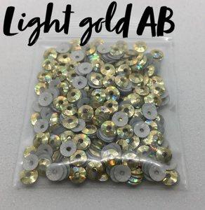 Light gold AB hotfix pailletten 4mm