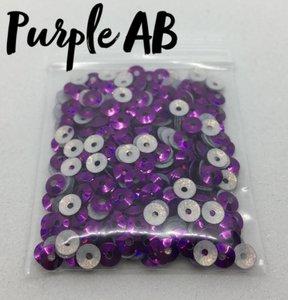 Purple AB hotfix pailletten 5mm