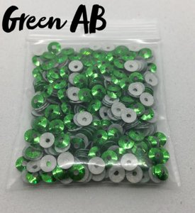 Green AB hotfix pailletten 3mm