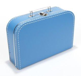 Kinderkoffertje aqua blauw 25cm