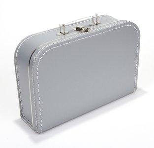 Kinderkoffertje zilver 25cm