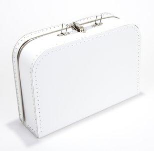 Kinderkoffertje wit 25cm