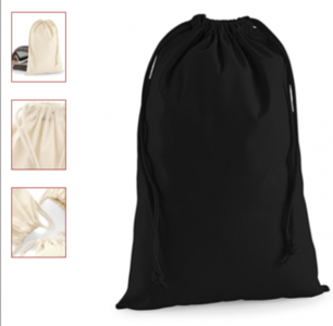 S cotton stuff bag black
