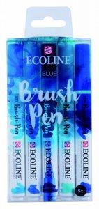 Brushpennen blue 5 stuks