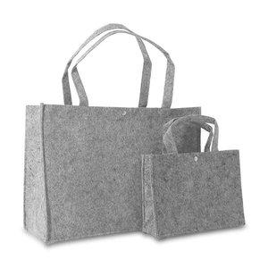 Vilten tas licht grijs klein