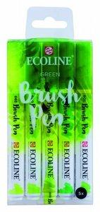 Brushpennen green 5 stuks