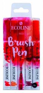 Brushpennen red 5 stuks