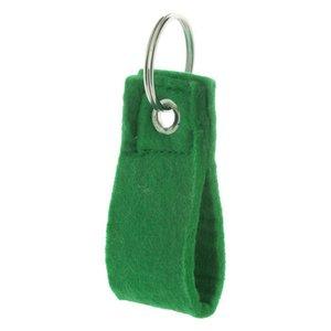 Vilten sleutelhanger groen (6 kleuren)