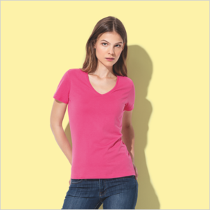 Stedman Classic V-hals dames tshirt  maat S