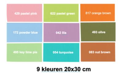 Oracal 631 Vinyl pakket 9 kleuren