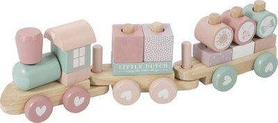 Little Dutch blokkentrein pink