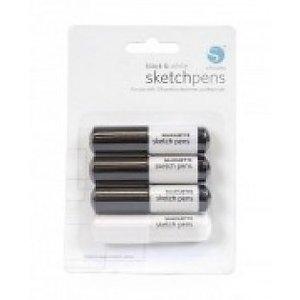 Silhouette sketch pens zwart/wit cameo 4