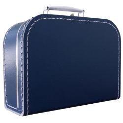 Kinderkoffertje donker blauw 30cm