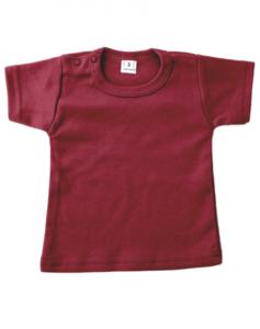 Baby shirts korte mouwen burgundy