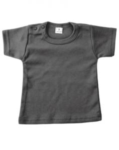 Baby shirts korte mouwen antracite