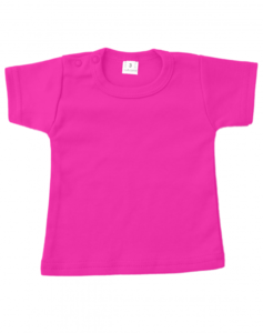 Baby shirts korte mouwen fuchsia