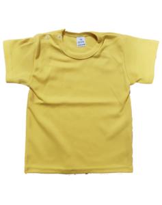 Baby shirts korte mouwen geel