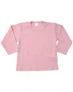 Baby shirts lange mouwen licht roze