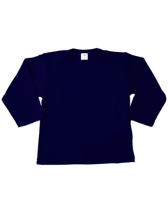 Baby shirts lange mouwen navy