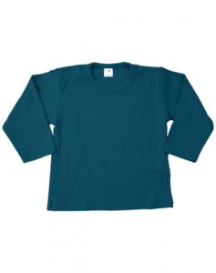 Baby shirts lange mouwen petrol