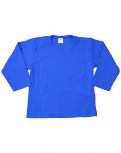 Baby shirts lange mouwen royal blue