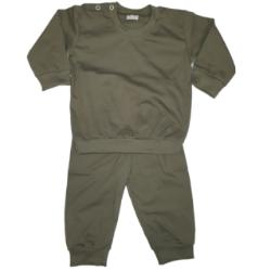 Baby pyjama leger groen
