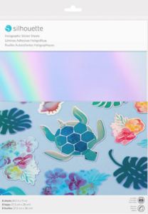 Silhouette Printable Holographic sticker sheets