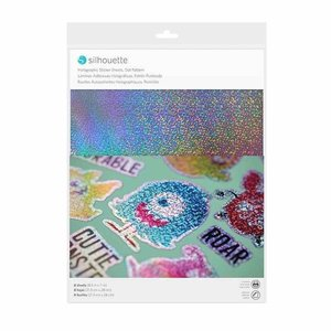 Silhouette Printable Holographic sticker sheets dot pattern