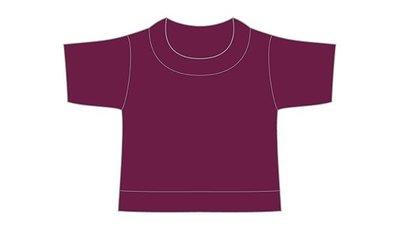 mini shirt bordeaux no label