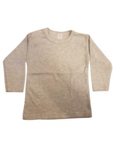 Baby shirts lange mouwen sport grey
